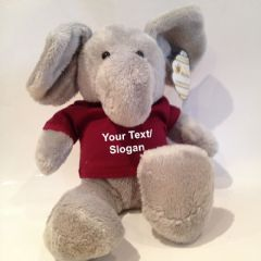 Personalised Teddy Bear - Ellie the Elephant Soft Toy Animal